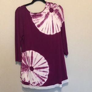 Tops - Tie dye tunic with rhinestones NWOT